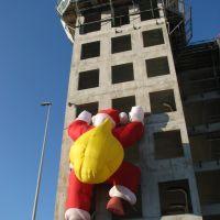 Saint-Denis A86: Père Noël regonflé - Santa re-puffed, Обервилье