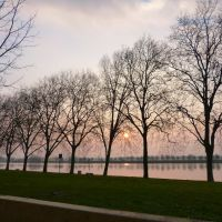 Les rives de Saône se saluent au petit matin, Макон