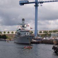 Brest, destroyer anglais en visite lors des fêtes 2004, Брест