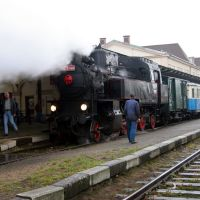 Sonderzug Liberec Harrachov Aufnahme auf dem Bahnhof Liberec, Либерец
