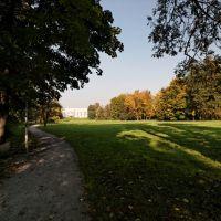Karviná - Park Boženy Němcové - View North towards Renaissance Castle Fryštát, Карвина