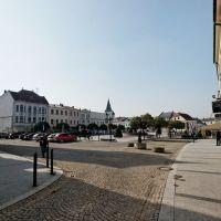 Karviná - Masarykovo náměstí / Hrnčířská - View WSW, Карвина