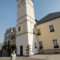 Karviná - Masarykovo náměstí - View NE on City Hall Tower, Карвина