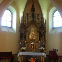 Opava - oltář kostela Sv. Kateřiny s obrazem Černé Madony (St. Catherines church altar with a picture of the Black Madonna), Опава