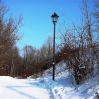 Lamp in winter, Острава