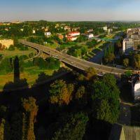 CZE Ostrava City & [Ostravice] from Nove Radnice vyhlidkova vez Panorama by KWOT, Острава