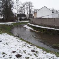 potok v zimě, Оломоук