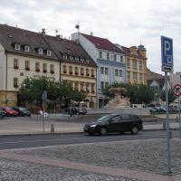 Csehország, Děčín (Tetschen-Bodenbach), Masaryk tér (Masarykovo Nám.), Hotel Česká Koruna, SzG3, Дечин