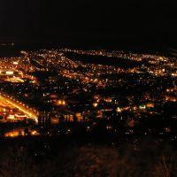 Noční Most - pohled z Hněvína, Мост
