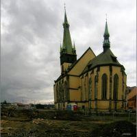 Kostel Nanebevzetí Panny Marie s křivou věží.(bombardováno 1945), Усти-над-Лабем