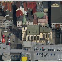 Ústí nad Labem, kostel Nanebevzetí p. Marie, okolo obchodní centrum Fórum, Усти-над-Лабем