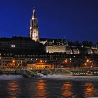 Bern by night - Cathedral and lower town ©AndreasF, Берн