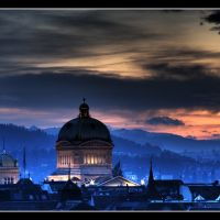 bern, bundeshaus twilighted © weggi.ch, Берн