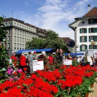 Bern / Bundesplatz / Geranienmarkt, Берн