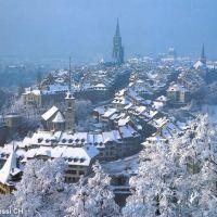(messi99) Berner Altstadt vom Rosengarten - Schnee von gestern [240°], Берн