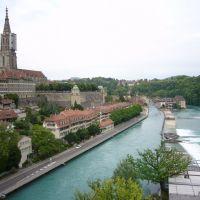 Bern, Sicht auf Aare und Münster, Берн