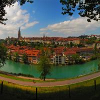 SWI Bern City & [Aare] from Grosser Muristalden Panorama by KWOT {Subtitle: The Smile City by petinaki} ♥♥♥♥♥♥♥♥♥♥, Кониц