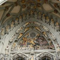 Berno -  portal of Cathedral - The Last Judgement (Sąd Ostateczny)., Кониц