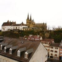Neuchatel cathedral view from the height, Ла-Шо-Де-Фонд
