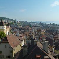 Vue de Neuchâtel depuis la Tour des Prisons   ►Look Around, Ла-Шо-Де-Фонд