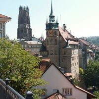 Le centre historique de FRIBOURG en Suisse., Фрейбург