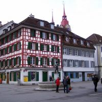 Riegelhaus und Brunnen, Винтертур