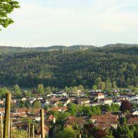 Panorama Winterthur Seen und Schloss Kyburg vom Lindberg, Винтертур