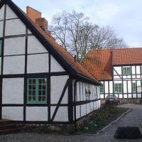 Old houses in Magle Stora kyrgogata, Lund, Лунд