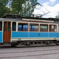 Old tram at tramway museum, Malmköping, Еребру