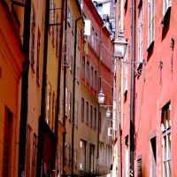 Colourful street in Gamla Stan, Содерталье