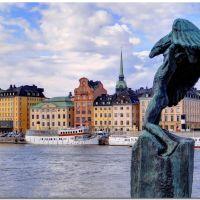 Stockholm -  View at Gamla stan, Содерталье