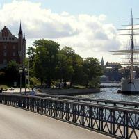 Stockholm - en romantisk plats med en segelbåt (romantické místo s plachetnicí; a romantic place with a sailboat), Sweden, Содерталье
