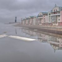 Södra Hamnen i dimma, Лулеа