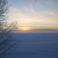 winter sunset, Лулеа
