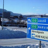 E10 in Kiruna, Кируна