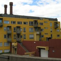Kiruna - houses balconies resemble mine lift cages, Кируна