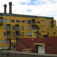 Kiruna - houses balconies resemble mine lift cages, Кируна