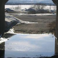 Spring mini-flood in western Kiruna, Кируна
