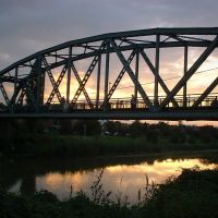 Zrenjanin, zeljeznicki most preko reke Begej, Зренянин