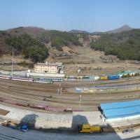 birds eye view of Masan station, Масан