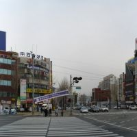 intersection in front of Masan station, Масан
