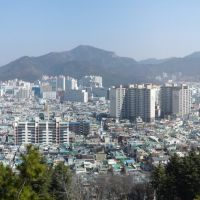 view north east from Yongmasan (Masan), Масан