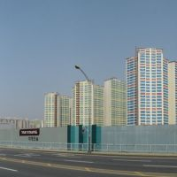 new apartment city on former industrial ground in center of Masan, Масан