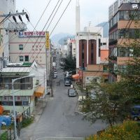 view into small street near Masan station, Масан