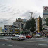 view to intersection of Happo, Samho und Bongam street, Масан