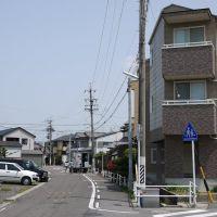 左が廃線跡, Касугаи