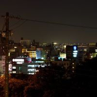 Okazaki at night, Оказаки