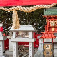 菅生神社,狐, Fox shrine, Оказаки