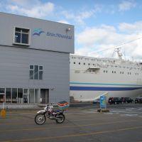 新日本海フェリー 秋田ターミナルとフェリーしらかば セロー225 ShinNihonkai Ferry Akita Terminal, Акита