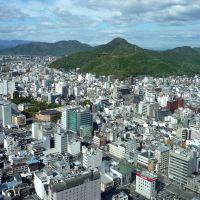 Central urban area of Gifu and Mt. Kinkazan 岐阜シティ・タワー43より岐阜市街・金華山方面, Тайими